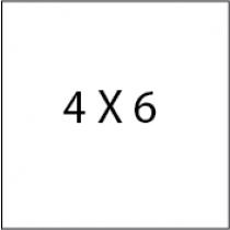 4X6 Die cut postcards