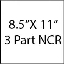 8.5X11 3PRT NCR