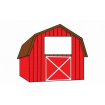 Barn Shaped Business Cards