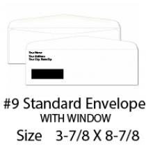 Envelope 9 window
