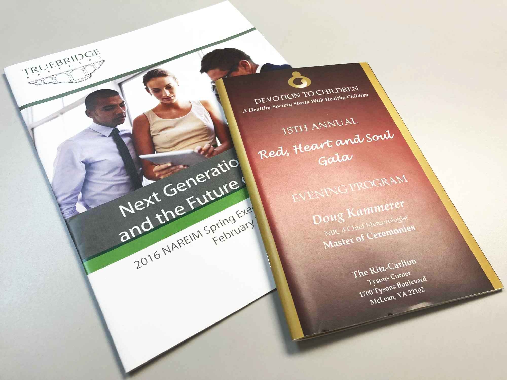 Program Booklet Printing